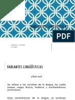variantes linguisticas