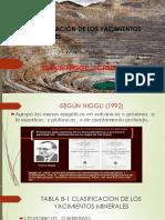 Clasificacion de Los Yacimientos Minerales Segun Niggli Pptx