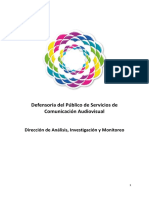 Monitoreo de la Defensoría del Público de Servicios de Comunicación Audiovisual