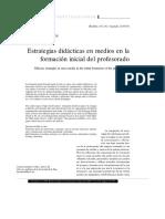 Estrategias Didacticas En Medios En La FormacionInicial