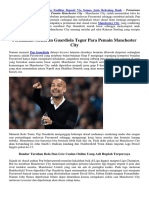 Permainan Menurun Guardiola Tegur Para Pemain Manchester City