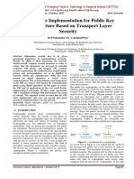 A Prototype Implementation for Public Key Infrastructure Based on Transport Layer Security