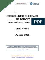 Código Único de Etica Del Agente Inmobiliario 28-04-2017 1.5mb