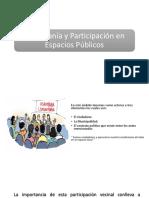 Ciudadanía y Participación en Espacios Públicos
