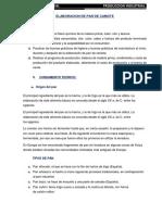 Informe Pan de Camote- Carlos