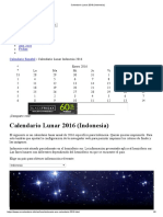 Calendario Lunar 2016 (Indonesia)2016