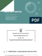 Sala de Partos - Res. 2003 de 2014