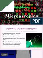Microarreglos (microarrays) Marcador molecular