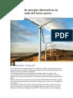 Desarrollo de energías alternativas en Bolivia depende del factor precio.docx