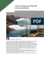 El Gobierno prevé el ingreso de 154 MW con fuentes no convencionales.docx