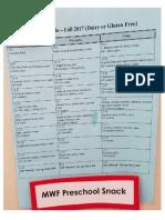 snack calendar pdf