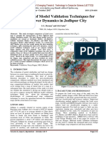 Comparison of Model Validation Techniques for Land Cover Dynamics in Jodhpur City