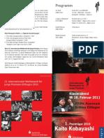 2011 Konzert Programm