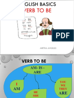 English Basics Class 1 VERB to BE