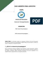 Actividad de la  Unidad I asignatura Pruebas Psicopedag+¦gicas I - Tema Evaluac+¦n Psicopedag+¦gica