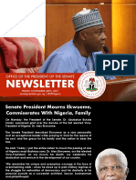 Office of the Senate President Newsletter. Week of Monday, November 20th to to Friday, November 24th