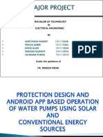 Remote Android Based operation and protection scheme of solar pump.