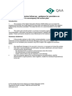 Higher Education Review Follow Up Guidance for Providers on Summary Statement