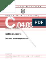 Învelitori. Norme de Proiectare NCM_C.04.03-2015