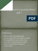 donotio mortis causa(deathbed gift ).pptx