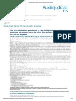 Resumen Tema 18 de Auxilio Judicial _ Auxilio Judicial