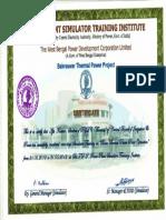 Simulator Certificate