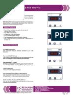 RISHABH Rish EINE Digital Panel Meter Datasheet