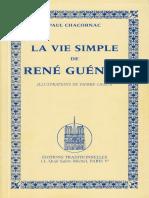 P. Chacornac - La Vie Simple de René Guénon.pdf