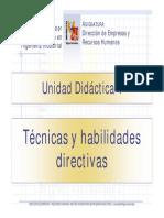 TEMA 4 Teoría Técnicas y Habilidades Directivas DEYRRHH MUII