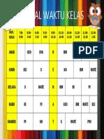 Jadual Waktu Kelas A