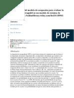 La Aplicación Del Modelo de Ocupación Para Evaluar La Depredación Intraguild en Un Modelo de Sistema de Carnívoroshttp