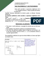 Las Funciones Polinomicas y Los Polinomios