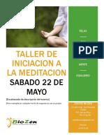 Taller de Iniciacion a La Meditacion