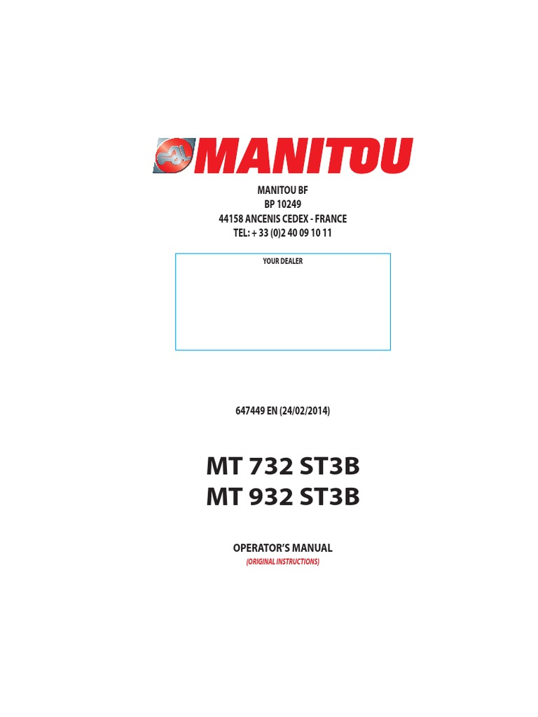 ... manual ebook Array - manitou elevator forklift rh pt scribd ...