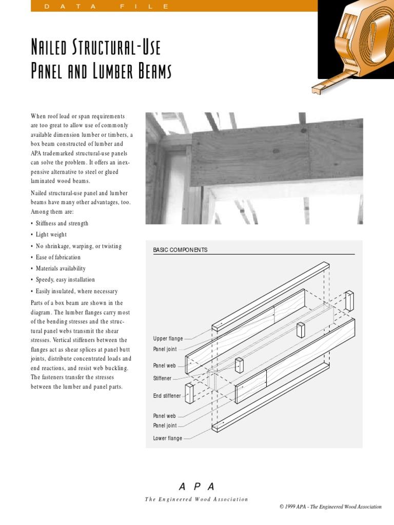 Beams Plywood pdf | Beam (Structure) | Lumber