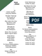 Lirik Lagu Ku Hanya Sayang Padamu – Aiman Tino.docx