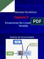 Capituo II Ecuaciones No Lineales