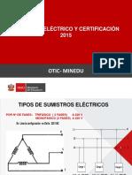 Cableado Eléctrico & Certificación OTIC MINEDU 2015