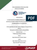 Tesis para implementacion de medidas policiales en accid. trans.