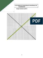 Sucesión de Las Sumas de Diagonales Inversas de Cuadrados de Aschero
