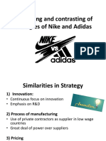 Strategic Difference between Nike and Adidas