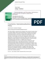 Mark Thatcher - Internationalisation and Economic Institutions