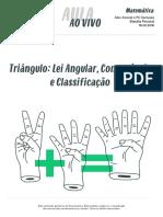Aulaaovivo Matemática2 Triangulo Lei Angular Congruencia Classificacao 18-02-2016 (1)