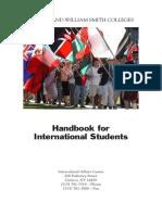 Handbook for. International Students