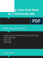 hearing loss and how to communicate