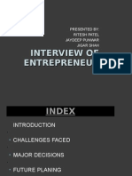 Interview of Enterpreneur.
