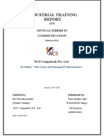 35980894 Industrial Training Report on Optical Fiber in Communication Acd to RTU KOTA