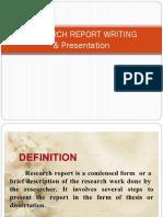 Report Writing& Presentation