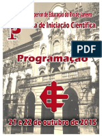 2015- PDF- PROGRAMAÇÃO- Jornada de Iniciação Científica