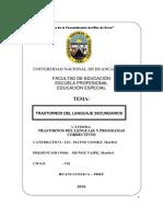 Trastornos Del Lenguaje Secundario en Asutismo y Esquizofrenia Monografia Unh